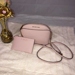 Michael Kors Jet Set Travel Crossbody Bag+Wallet